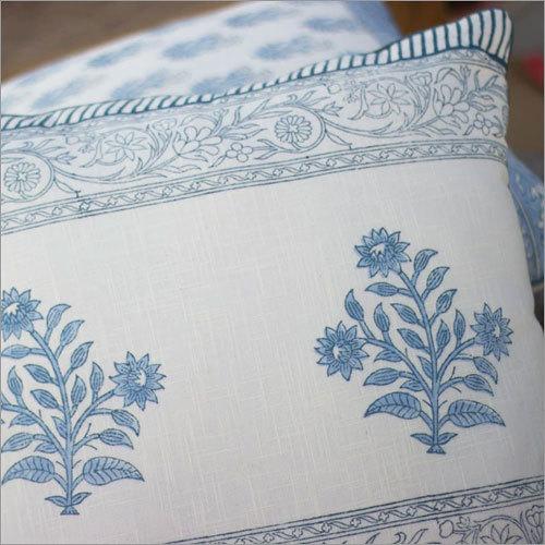 Blue Floral Cushion Cover