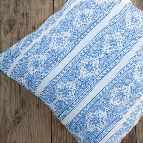 Sky Blue Floral Cushion Cover