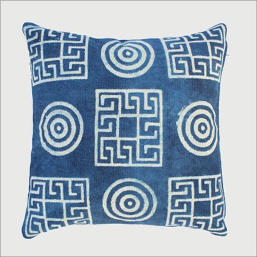 Geometric Indigo Print Cushion Cover