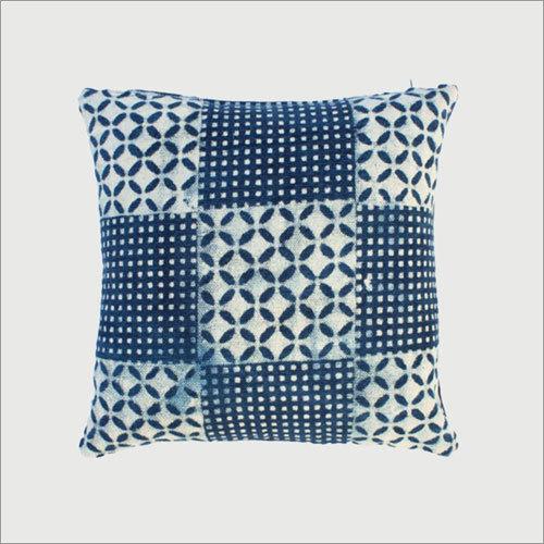 Indigo Geaometric Cushion Cover
