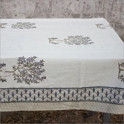Green Deer Print Table Cloth