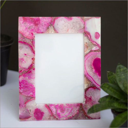 Pink Agate Photo Frame