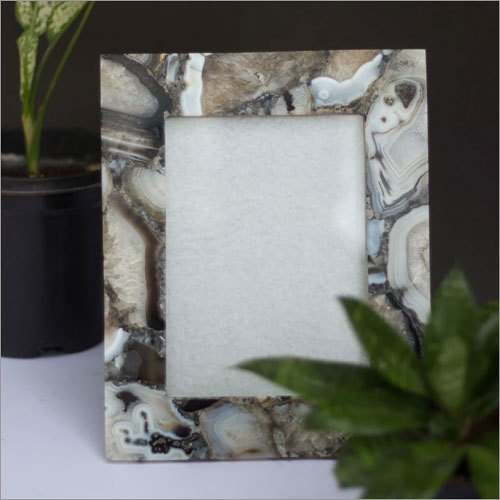 Black Agate Photo Frames