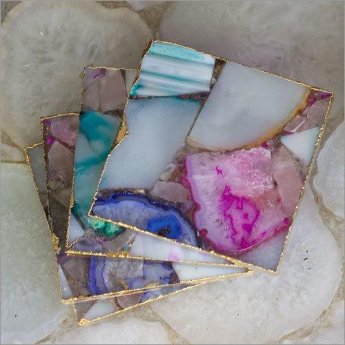 Mix Agate Coaster Set