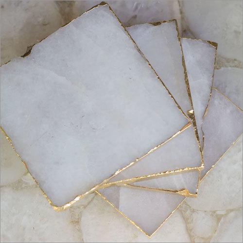 White Quartz Coaster Set