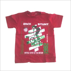 Printed Red T-Shirt