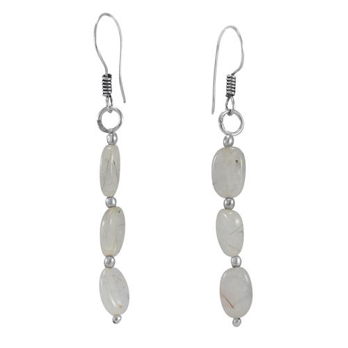 Rutile Quartz Stone Silver Earring PG-156363