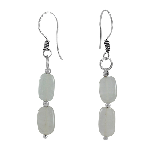 Grey Quartz Stone SIlver Earring PG-156368