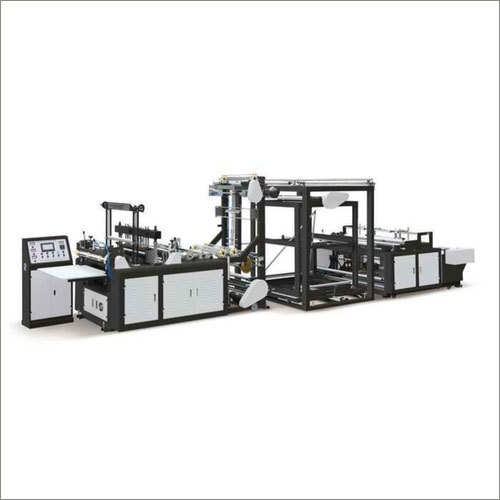 220 V D-Cut Fully Automatic Paper Bags Making Machine