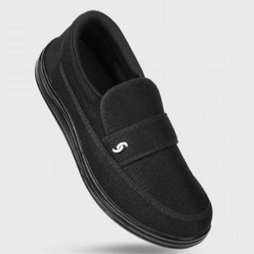 Black Colour Mens Casual Shoe