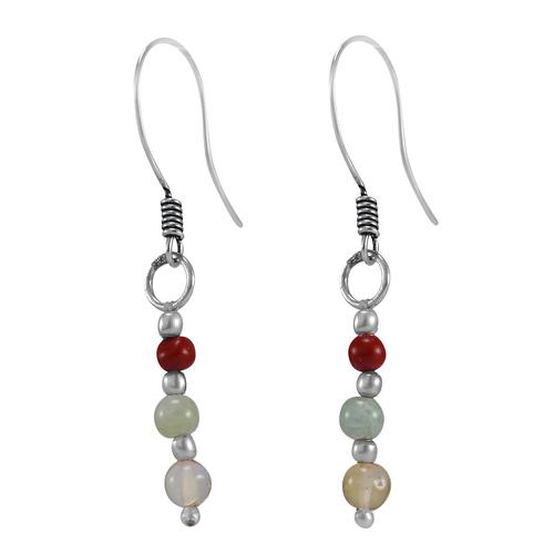 Citrine & Jasper Silver Earring PG-156374