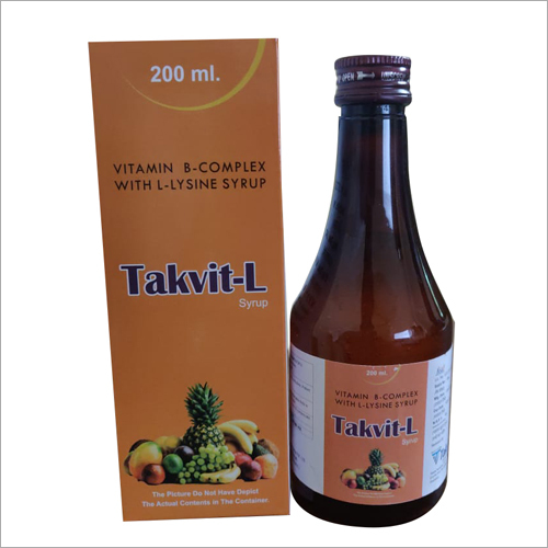 200ml Vitamin B-Complex With L-Lysine Syrup