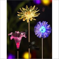Solar Flower Decoration Stake Lights (Pack of 3)