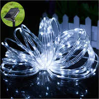 100 LED 40 ft Hollow TubDecorative Solare Decorative Solar Fairy Light for Garden
