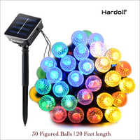 30 LED 20 ft Figured Ball Decorative Solar Outdoor Light