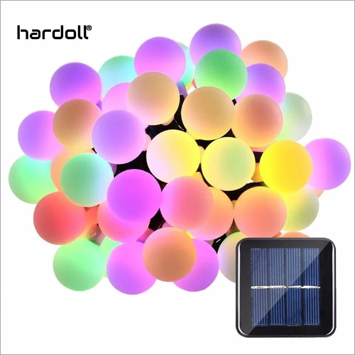50 LED 26 ft Multi Color White Ball String Light