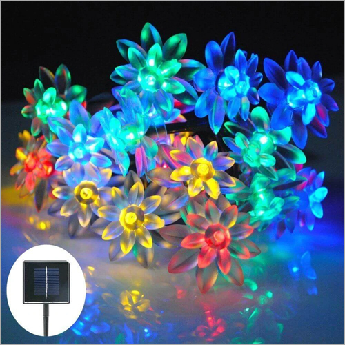 Solar Lotus Shaped Decorative Waterproof String Light
