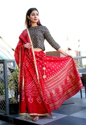 Ruby Red Lehenga set