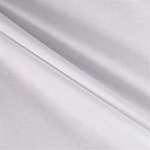 Pearl White Cotton Mix Fabric