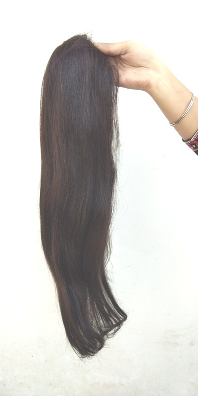 Raw Virgin Unprocessed Indian Natural Color ,Front Lace Straight wig with baby hairs