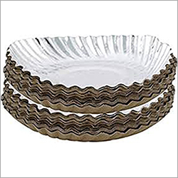 Wrinkle Silver Coated Disposable Plate