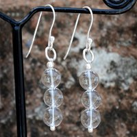 Crystal Quartz Gemstone Silver Earring PG-156394