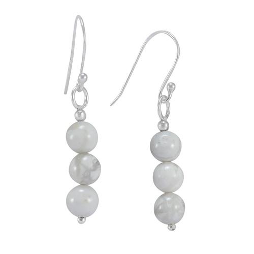 Howlite Gemstone Silver Earring PG-156396