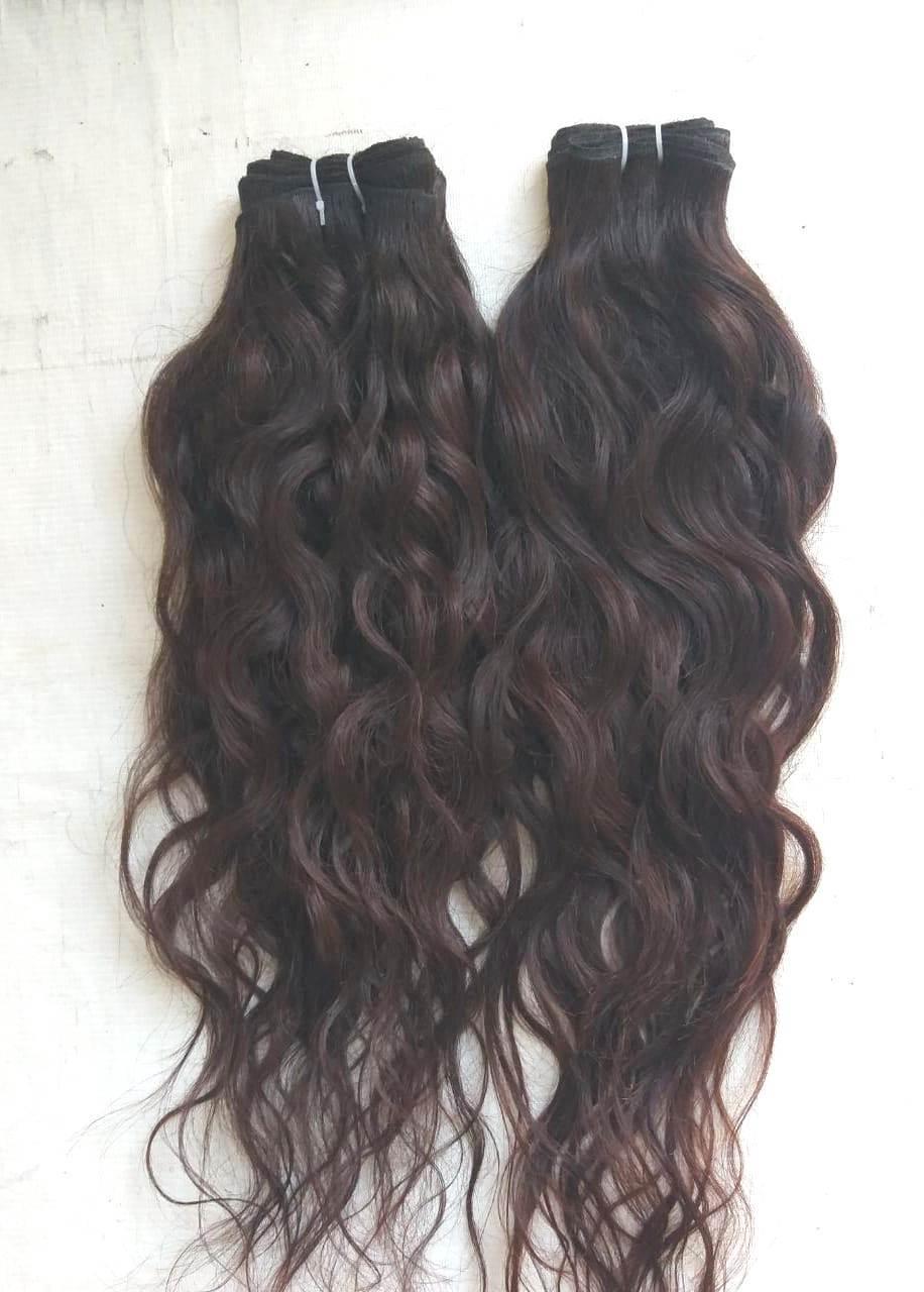 Premium Unprocessed Wavy Hair,Soft Raw wavy hair,Single Donor Raw Indian Wavy Hair