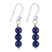 Lapis Lazuli Gemstone Silver Earring PG-156399