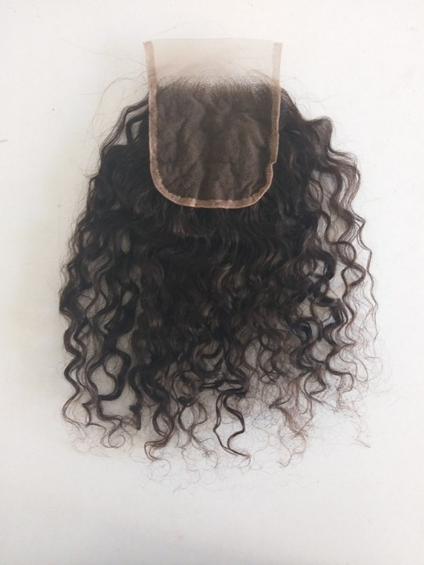 Raw Curly Transparent Lace Closure
