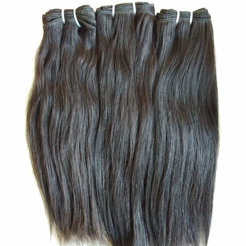 100% Human Hair Extensions Natural Color Straight Raw Virgin Straight Hair