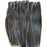 100% Human Hair Extensions Natural Color Straight Raw Virgin Straight Hair