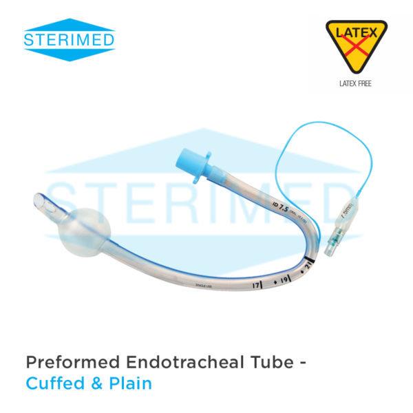 Endotracheal Tube Preformed RAE Ivory North Pole South Pole Plain & Cuffed
