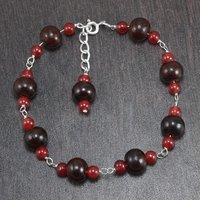 Carnelian 7 wood beads Necklace PG-156410