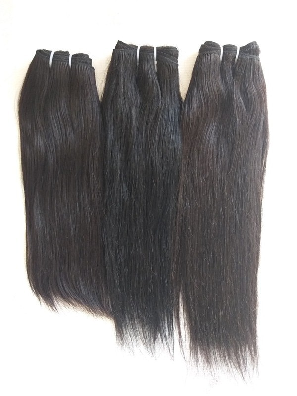 No Shedding No Tangle Thick End Straight Hair Weft Indian Straight Hair