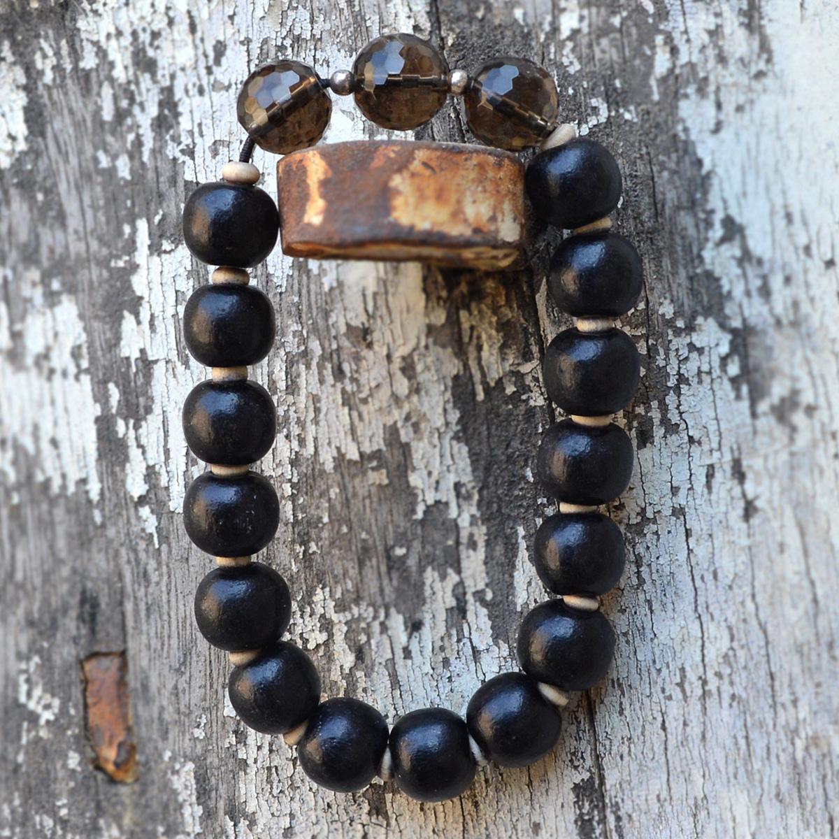 Smoky Quartz Silver Bracelet PG-156426