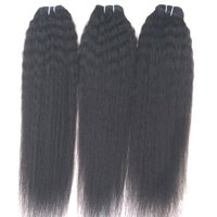 Kinky Straight Human Hair, 100 human hair kinky straight wave natural color