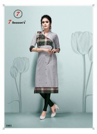 7Season's Tik Tok Cotton Side Cut Wholesale Kurti
