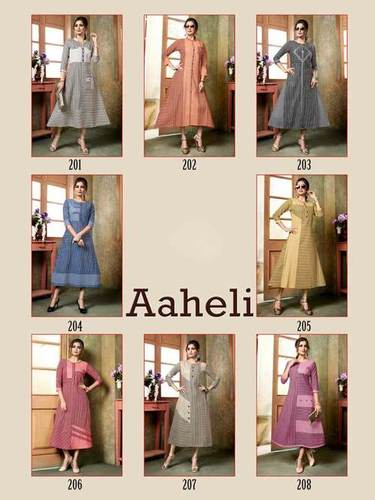 Aaheli Manas Handloom Cotton Wholesale Kurti Collection