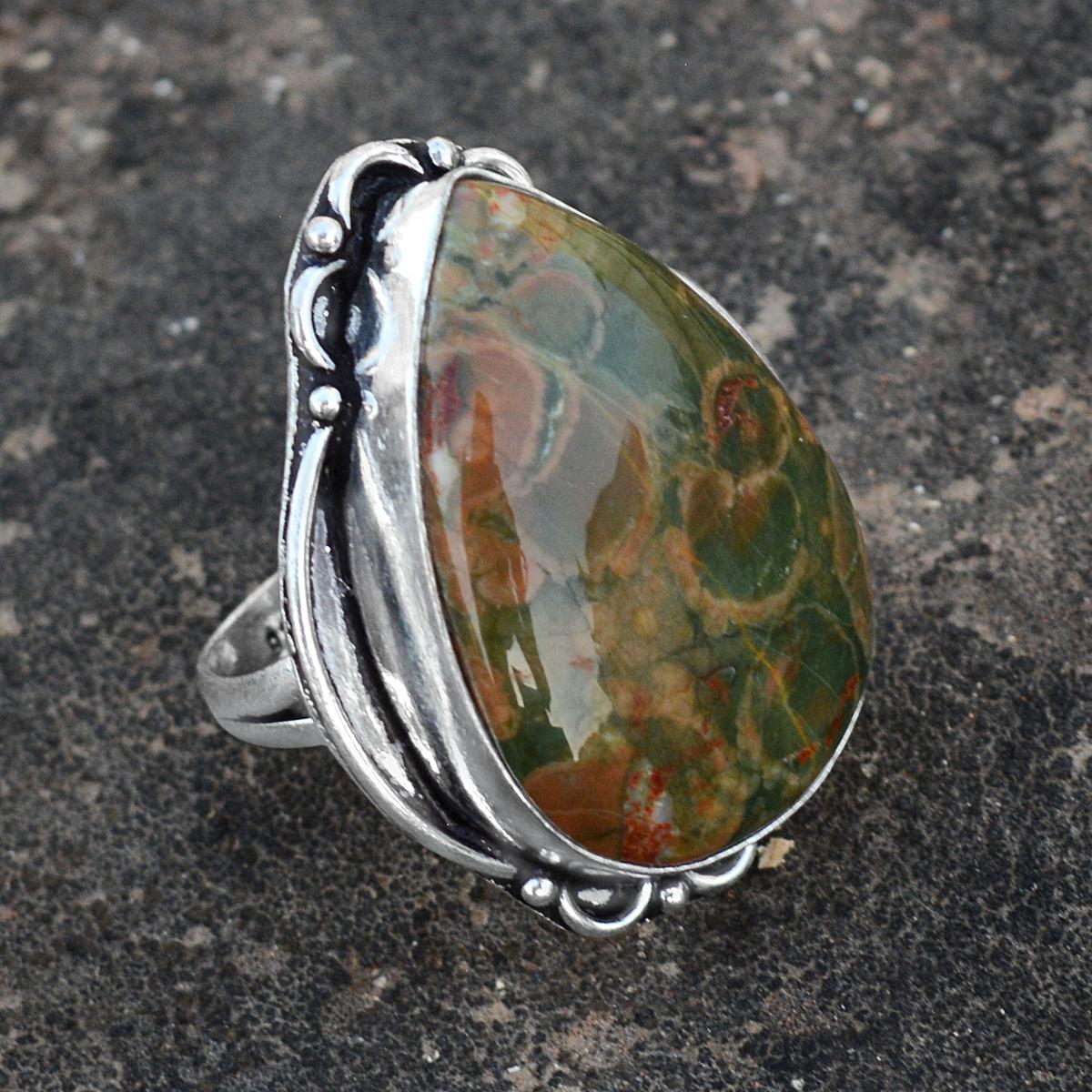 Rhyolite Silver Ring PG-156607