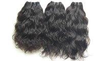 Single Donor Raw Indian Wavy Hair Bundles Raw Temple Human Hair