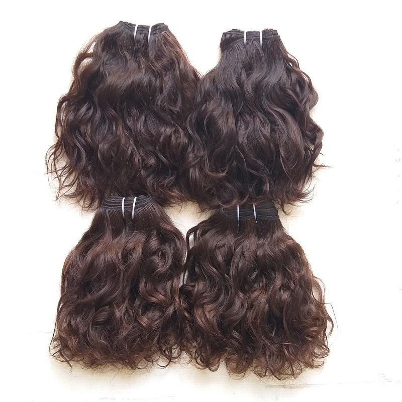 Single Donor Raw Indian Wavy Hair Bundles Raw Temple Human Hair