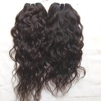 Temple Wavy Human Hair,100% Indian Temple Donated Natural Indian Natural Color Wavy Human Hair