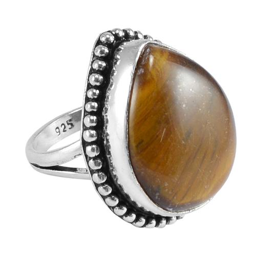 Tiger Eye Gemstone Silver Ring PG-156613