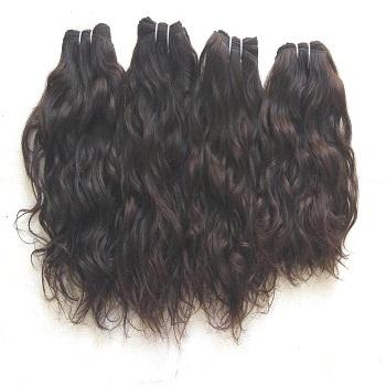 Raw Unprocessed Wavy Human Hair, wavy hair,Temple Indian wavy human