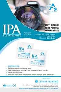 Isopropyl Alcohol Sanitizing Wipes/swab(3 X 6 Cms)
