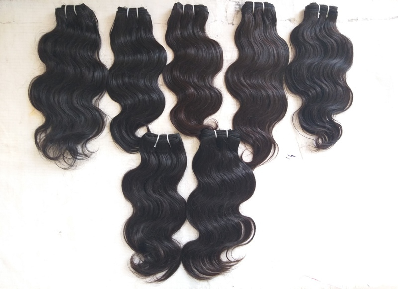 Natural 13x6 Waves Frontal And Weft Hair