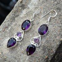 Purple Quartz Silver Earring PG-156621