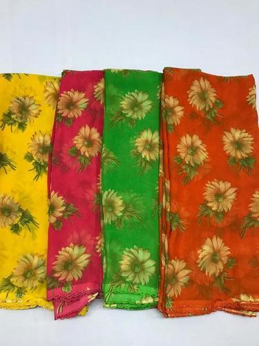 Floral Print Partywear Saree
