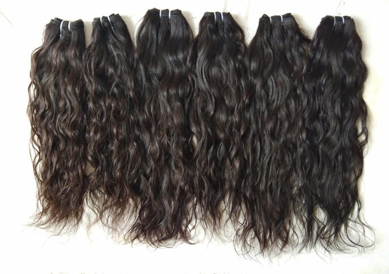 Single Donor Raw Indian Wavy Hair Bundles, Raw Wavy Human Hair